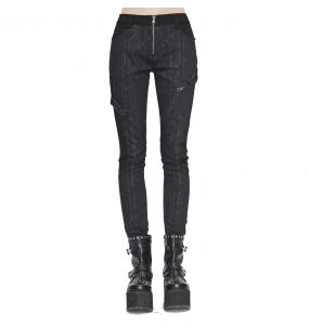 Black 'Cyber Game' Slim Pants