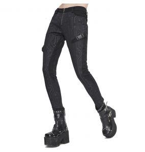 Black 'Cyber Game' Slim Pants