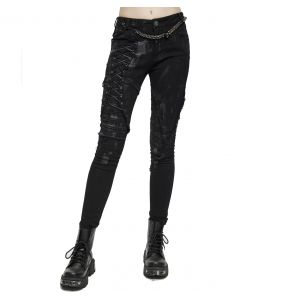 Black Denim 'Wasteland' Female's Pants