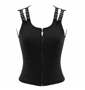 Black 'Wasteland' Sleeveless Top