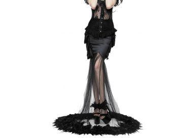 Black 'Plumes Noires' Skirt