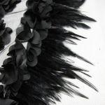 Jupe Sirène 'Black Feathers' Noire