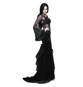 Top à Manches Longues 'Femme Fatale' Noir