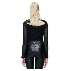 Black 'Esmerée' Long Sleeves Top