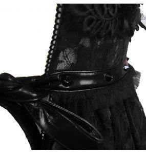 Déshabillé 'Romantic Goth' en Dentelle Noire
