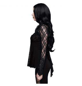 Black 'Furia' Long Sleeves Top