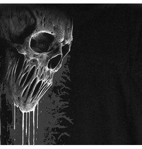 T-Shirt Manches Courtes 'Bat Curse' Noir