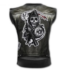 Black 'Jax Wrap' Sleeveless T-Shirt
