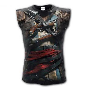 T-Shirt Sans Manches 'Assasins Creed' Noir