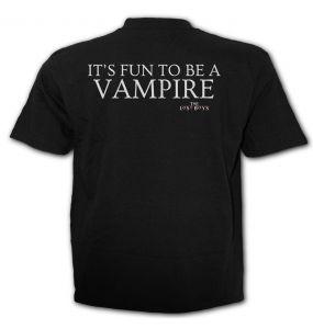 T-Shirt Manches Courtes 'The Lost Boys - Never Die' Noir