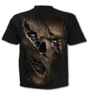 T-Shirt Manches Courtes 'Thread Scare' Noir