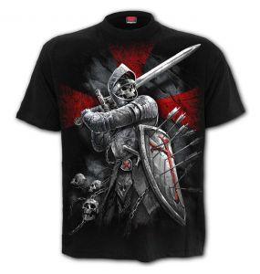 T-Shirt Manches Courtes 'Valiant' Noir