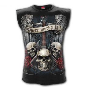 T-Shirt Sans Manches 'Unspoken' Noir