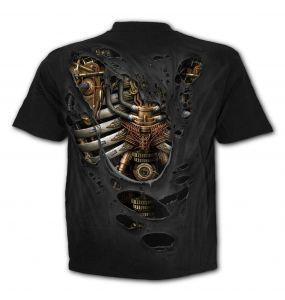 T-Shirt Manches Courtes 'Steam Punk Ripped' Noir