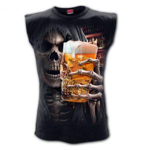 T-Shirt Sans Manches 'Live Loud' Noir