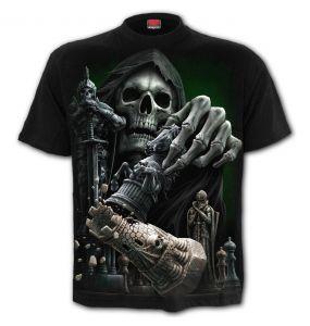 T-Shirt Manches Courtes 'Checkmate' Noir