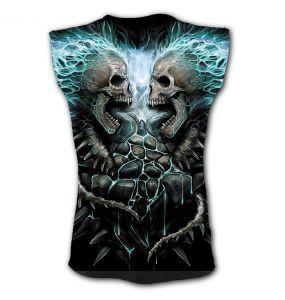 T-Shirt Sans Manches 'Flaming Spine' Noir
