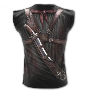Black 'Holster Wrap' Sleeveless T-Shirt