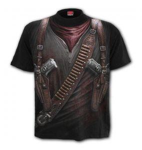 Black 'Holster Wrap' T-Shirt