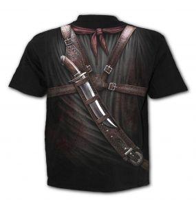 T-Shirt Manches Courtes 'Holster Wrap' Noir