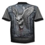 Blue and Grey 'Trash Metal' T-Shirt