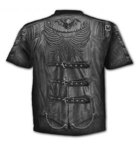 Black 'Goth Wrap' T-Shirt