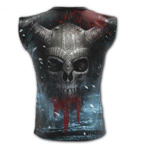 Black 'Viking Wrap' Sleeveless T-Shirt