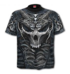 Grey 'Skull Armor' T-Shirt