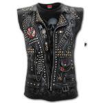 Black 'Goth Metal' Sleeveless T-Shirt