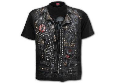 T-Shirt Manches Courtes 'Goth Metal' Noir