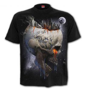 T-Shirt Manches Courtes 'Dead World' Noir