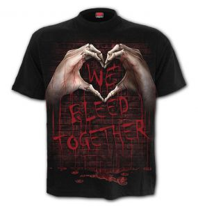 Black 'We Bleed Together' T-Shirt