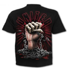 T-Shirt Manches Courtes 'We Bleed Together' Noir