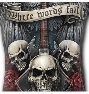 Black 'Unspoken' Sleeveless T-Shirt