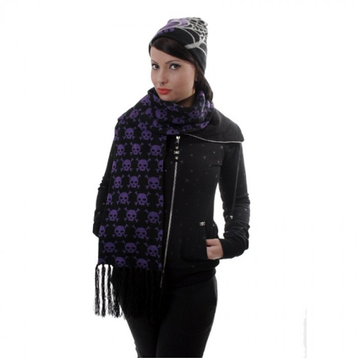 Scarf 'Purple Skulls'