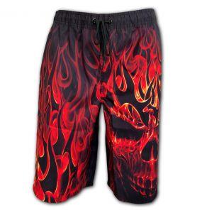 Black 'Skull Blast' Swim Shorts
