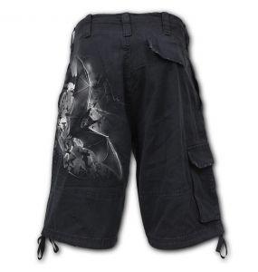 Black 'Bat Curse' Vintage Shorts