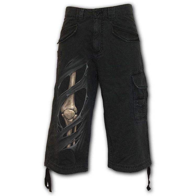 Pantalon ¾ Vintage 'Bone Rips' Noir