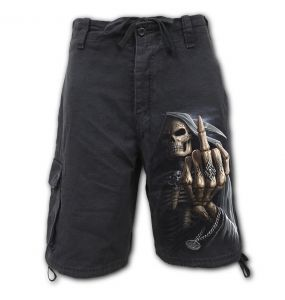 Black 'Bone Finger' Vintage Shorts