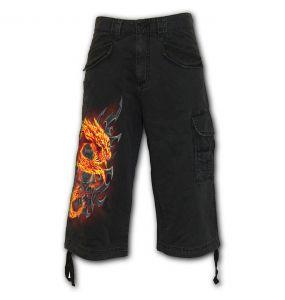 Pantalon ¾ Vintage 'Fire Dragon' Noir
