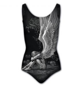 Black 'Enslaved Angel' Swimsuit