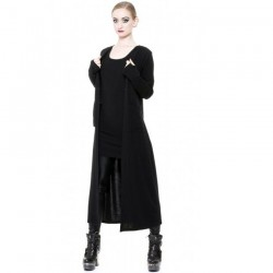 Long Gilet Noir 'Mystic'