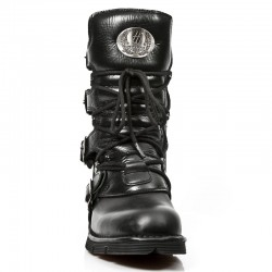Collector's Edition Black Leather New Rock Heritage Boots