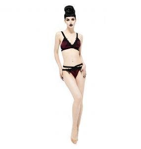 Burgundy and Black 'Narcissa' Bikini
