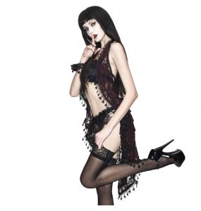 Black and Red Lace 'Ophelia' Night Dress