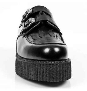 Chaussures New Rock Neo Creeper en Cuir Noir