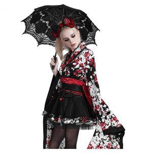 Ombrelle Gothic Lolita 'Black Fairy' Noire