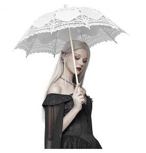 Ombrelle Gothic Lolita 'Black Fairy' Blanche