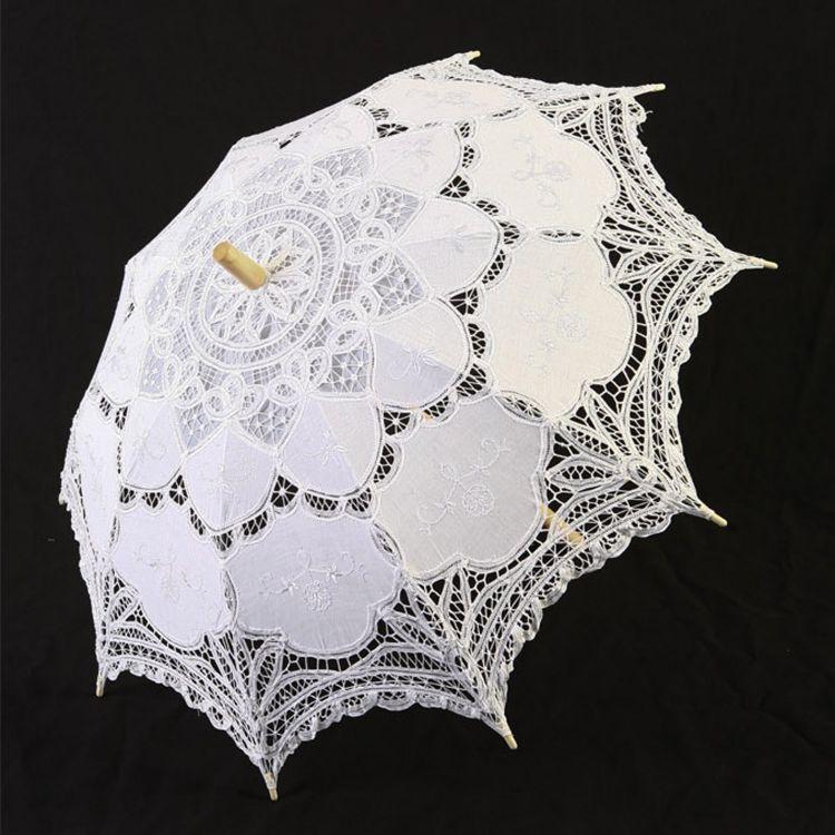White 'Fairy' Gothic Lolita Umbrella