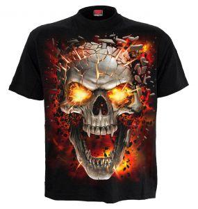T-Shirt Manches Courtes pour Enfants 'Skull Blast' Noir